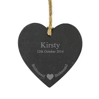 Bridesmaid Slate Heart Decoration - Product number 2288249