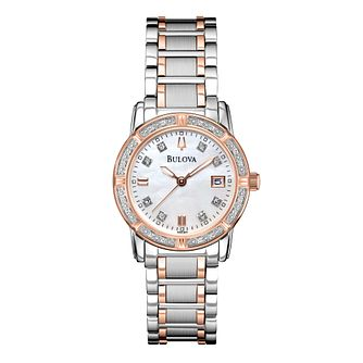Bulova Diamond ladies' two colour bracelet watch - Product number 2293196