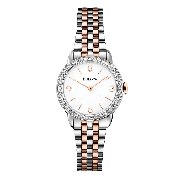 Bulova Diamond Gallery ladies' two colour bracelet watch - Product number 2293269