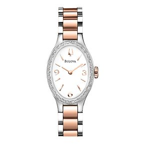 Bulova Diamond Gallery ladies' two colour bracelet watch - Product number 2293285
