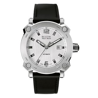 Bulova Percheron men's stainless steel black strap watch - Product number 2293471