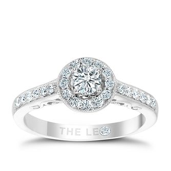 Leo Diamond 18ct white gold 1/2ct I I1 halo ring - Product number 2294729