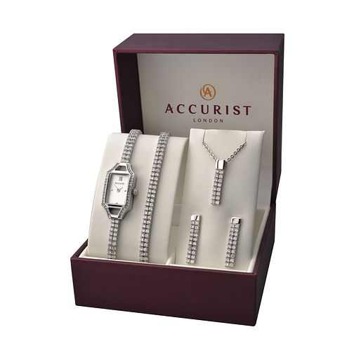 Accurist Ladies' Watch Bracelet Earring & Pendant Set - Product number 2295547
