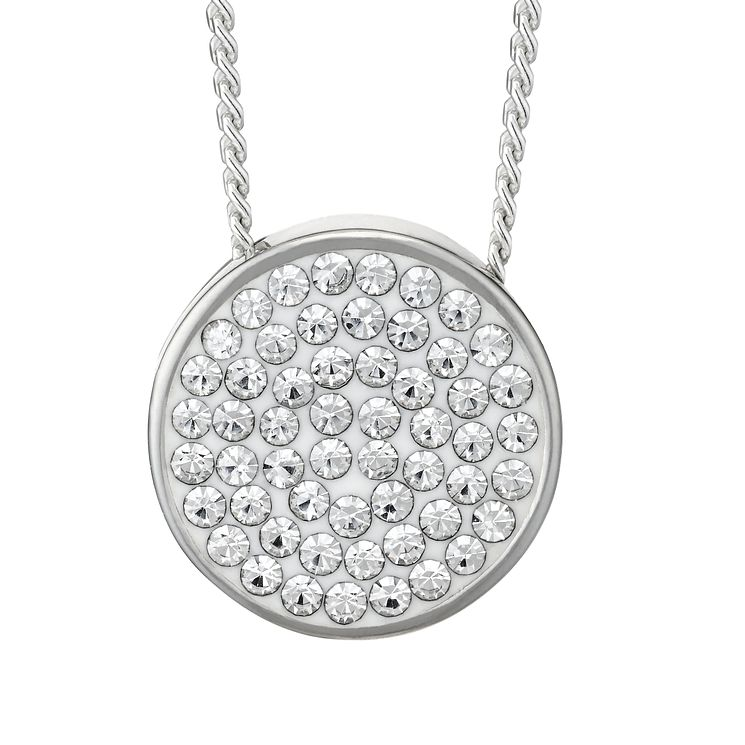 Evoke Silver & Clear Swarovski Elements Round Pendant - Product number 2301253