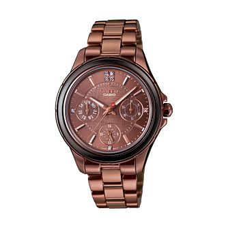 Casio Sheen Ladies' Bronze Tone Swarovski Elements Watch - Product number 2302535