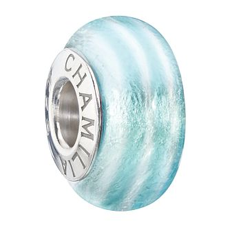 Chamilia sterling silver & murano glass Aqua bead - Product number 2302772