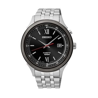 Seiko Men's Stainless Steel Kinetic Bracelet Watch - Product number 2303310