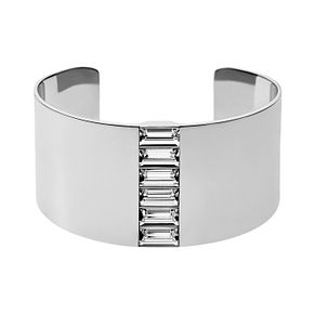 DKNY Geometric Glitz Baguette Cut Crystal Steel Bangle - Product number 2305747