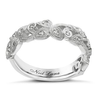 Neil Lane Designs silver 0.11ct diamond vine band - Product number 2308134