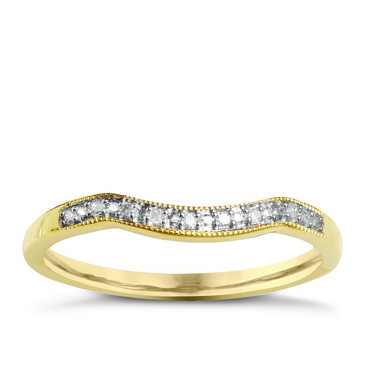 9ct Yellow Gold & Diamond Perfect Fit Eternity Ring - Product number 2310759