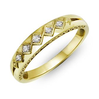 9ct Yellow Gold & Diamond Perfect Fit Eternity Ring - Product number 2311968