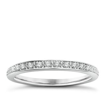 9ct White Gold & Diamond Perfect Fit Eternity Ring - Product number 2313529