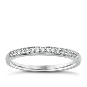9ct White Gold & Diamond Perfect Fit Eternity Ring - Product number 2313790