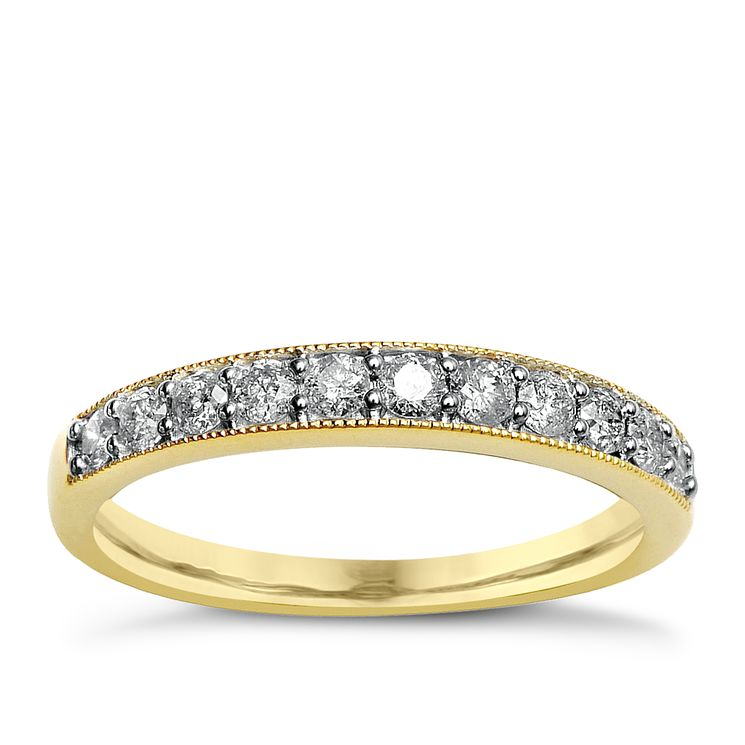 9ct Yellow Gold & Diamond Perfect Fit Eternity Ring - Product number 2313936