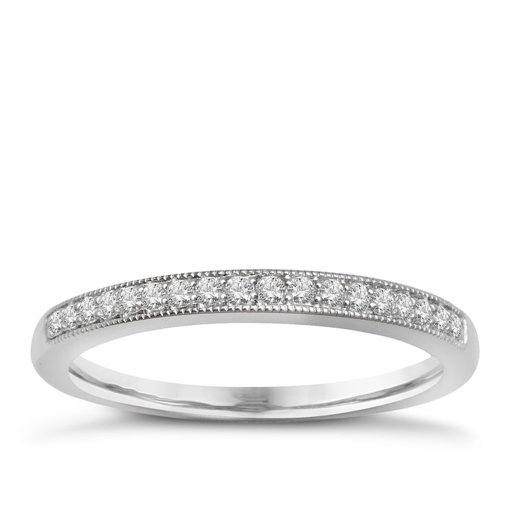 9ct White Gold & Diamond Perfect Fit Eternity Ring - Product number 2314053