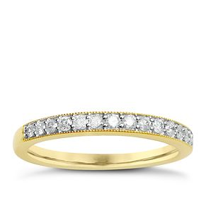 9ct Yellow Gold & Diamond Perfect Fit Eternity Ring - Product number 2314193