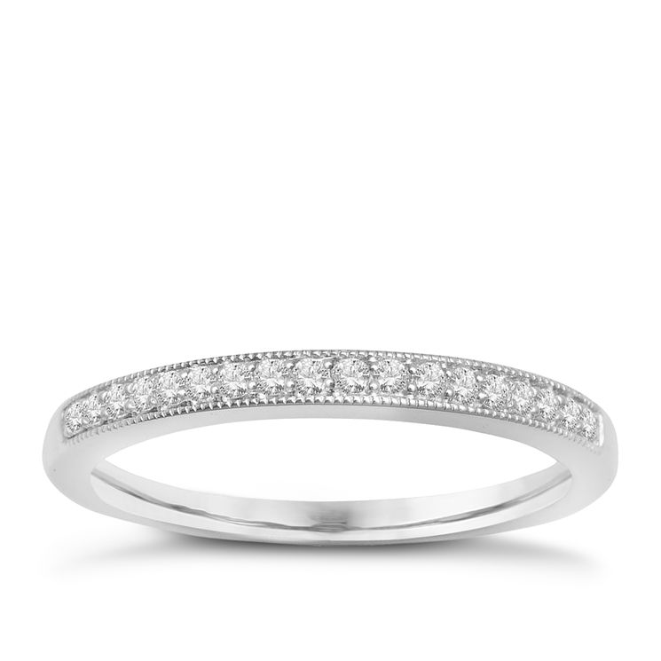 9ct White Gold & Diamond Perfect Fit Eternity Ring - Product number 2314320