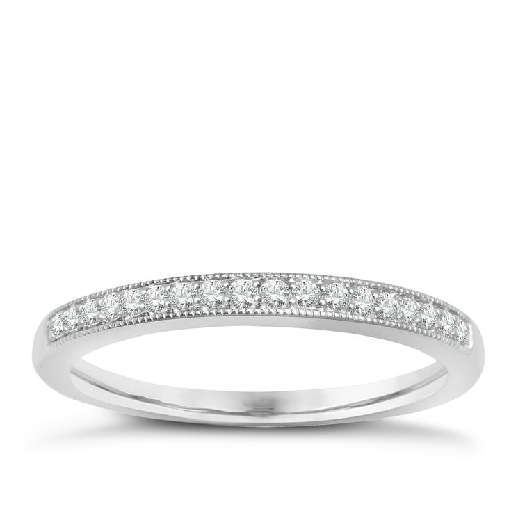 9ct White Gold & Diamond Perfect Fit Eternity Ring - Product number 2314460