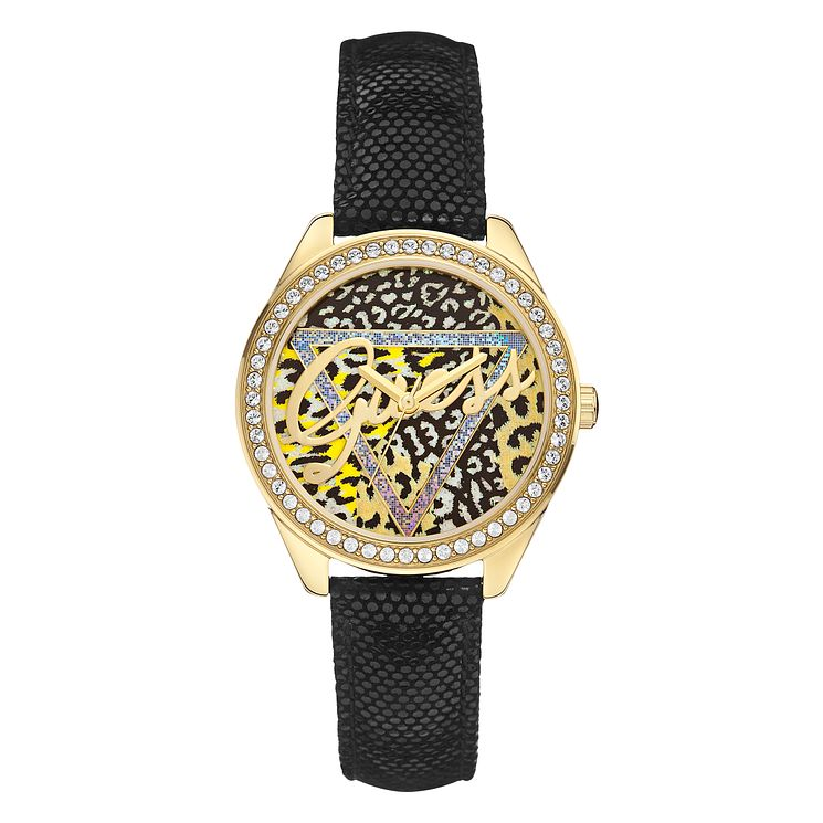 Guess Ladies' Animal Print Crystal Little Flirt Watch - Product number 2317389