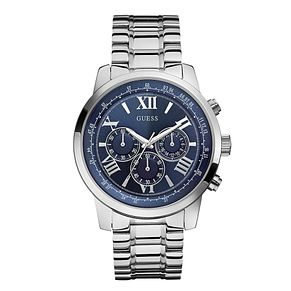 Guess Men's Horizon Stainless Steel Blue Dial Watch - Product number 2317451