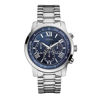 Guess Men's Stainless Steel Blue Dial Watch - Product number 2317451