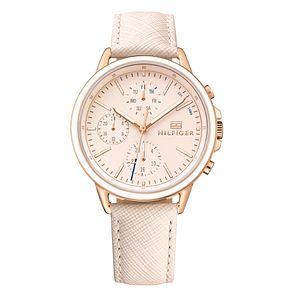 Tommy Hilfiger Carly Ladies' Blush Leather Strap Watch - Product number 2322900