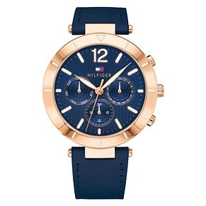 Tommy Hilfiger Chloe Ladies' Navy Leather Strap Watch - Product number 2323087