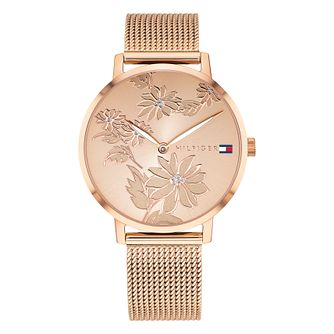 Tommy Hilfiger Pippa Ladies' Rose Gold Plated Bracelet Watch - Product number 2323230