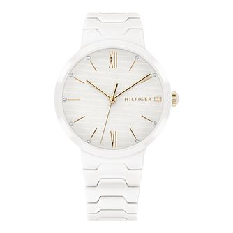 Tommy Hilfiger Avery Ladies' White Ceramic Bracelet Watch - Product number 2323397