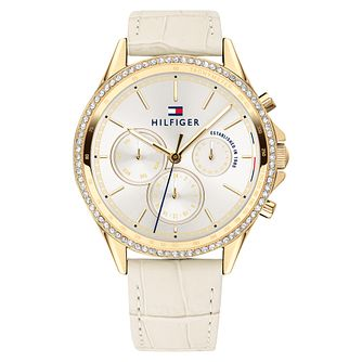 Tommy Hilfiger Ladies' Beige Leather Strap Watch - Product number 2323613