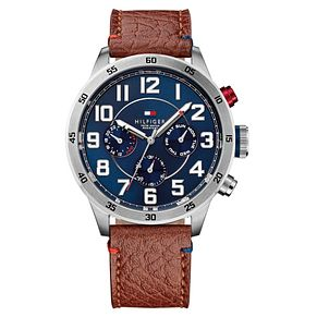 Tommy Hilfiger Trent Men's Brown Leather Strap Watch - Product number 2323699