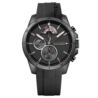 Tommy Hilfiger Decker Men's Black Silicone Strap Watch - Product number 2323923