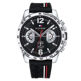 Tommy Hilfiger Decker Men's Black Rubber Strap Watch - Product number 2324385