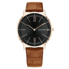 Tommy Hilfiger Cooper Men's Brown Leather Strap Watch - Product number 2325063