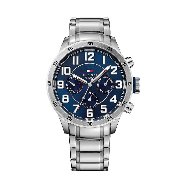 Tommy Hilfiger Men's Navy Blue Dial Stainless Steel Watch - Product number 2329069