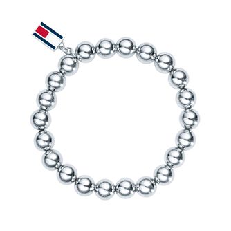 Tommy Hilfiger Ladies' Stainless Steel Bead & Logo Bracelet - Product number 2330741