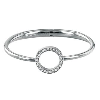 Tommy Hilfiger Ladies' Stainless Steel Open Circle Bangle - Product number 2330954