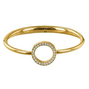 Tommy Hilfiger Ladies' Gold Plated Open Circle Bangle - Product number 2330962