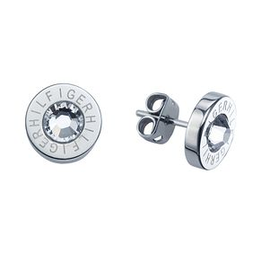 Tommy Hilfiger Ladies' Logo Swarovski Round Stud Earrings - Product number 2331101