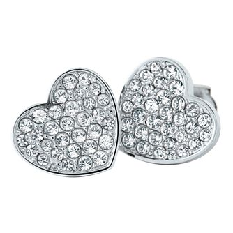 Tommy Hilfiger Ladies' Swarovski Pave Heart Stud Earrings - Product number 2331152