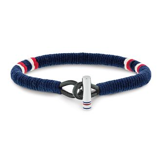 Tommy Hilfiger Men's Wrapped Blue Leather Bracelet - Product number 2331403