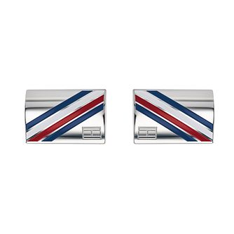 Tommy Hilfiger Men's Stainless Steel Diagonal Cufflinks - Product number 2331616