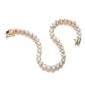 Buckley London Yellow Gold Tone Crystal Tennis Bracelet - Product number 2334097