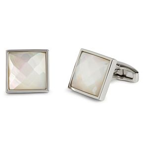 Simon Carter square facet white mother of pearl cufflinks - Product number 2334151