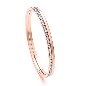 Buckley London Rose Gold Plated Crystal Bangle Duo - Product number 2334186
