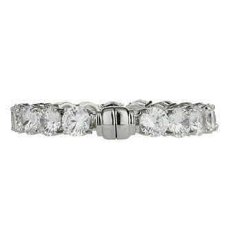 Mikey Silver Tone Large Crystal Set Bracelet - Product number 2335743