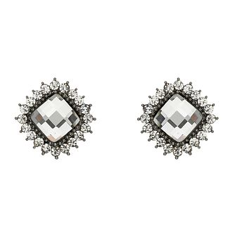 Mikey Large Square Crystal Clip On Earrings - Product number 2335883