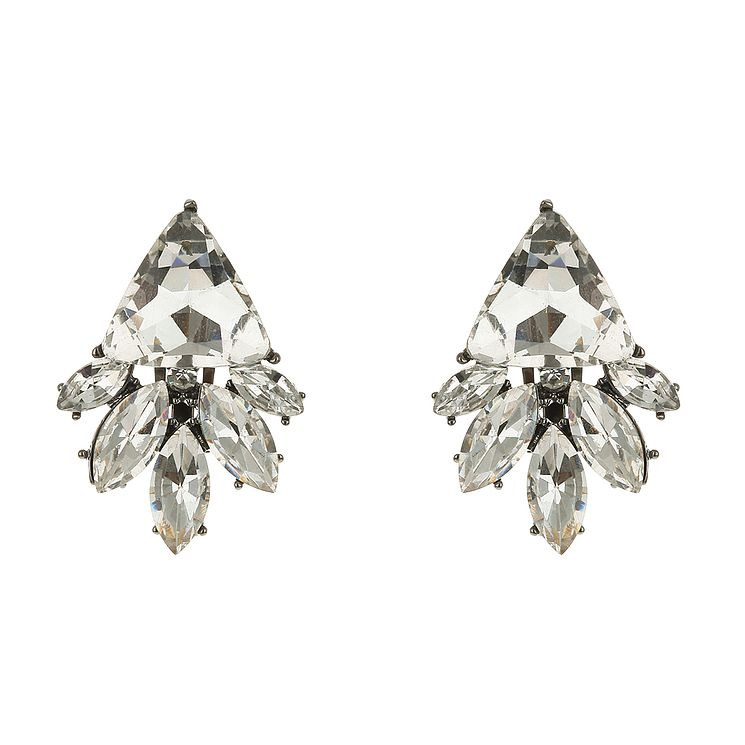Mikey Vintage Design Crystal Clip On Earrings - Product number 2335891