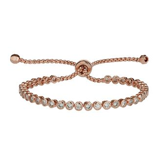 Mikey Rose Gold Tone Cubic Zirconia Self Locking Bracelet - Product number 2336030