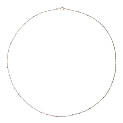 "9ct White Gold Fancy Glitz 20"" Belcher Chain - Product number 2338769"